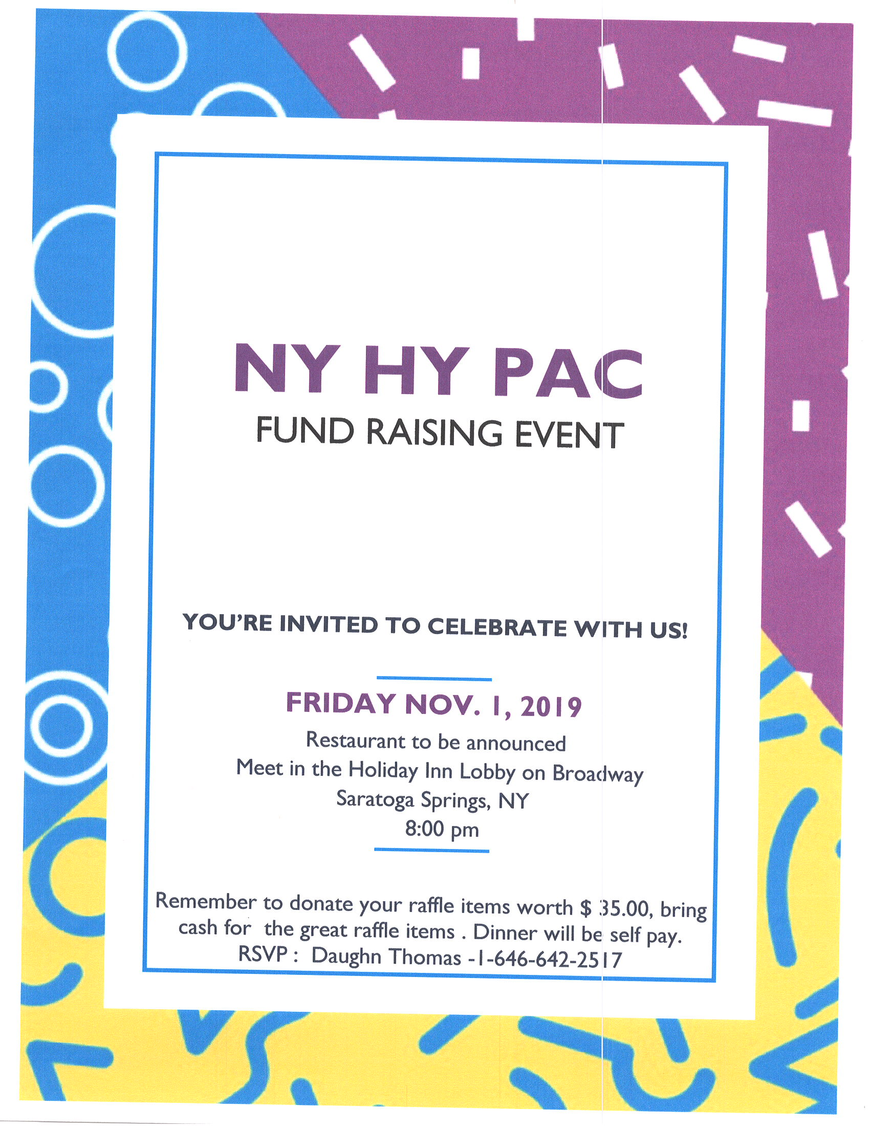 HYPAC Event Nov. 1, 2019